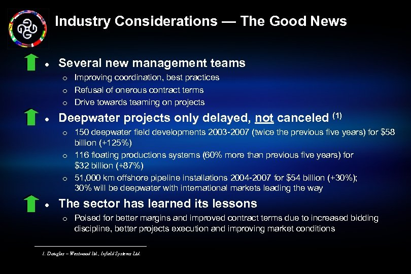 Industry Considerations — The Good News l Several new management teams m m m