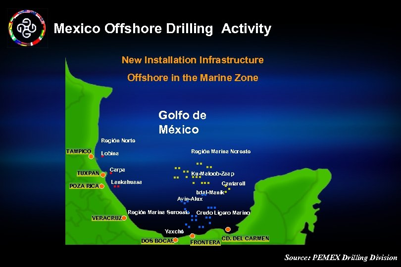 Mexico Offshore Drilling Activity New Installation Infrastructure Offshore in the Marine Zone Golfo de