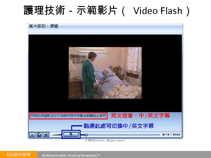 護理技術-示範影片( Video Flash)