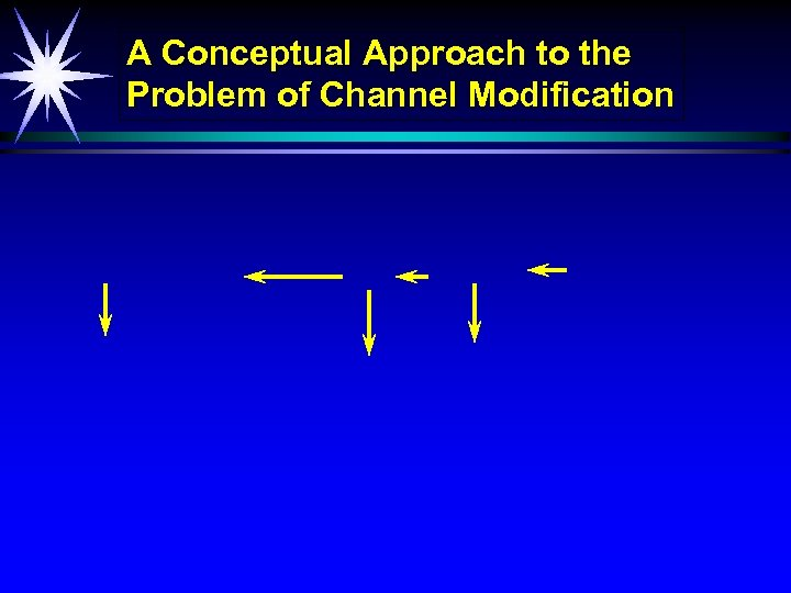 A Conceptual Approach to the Problem of Channel Modification