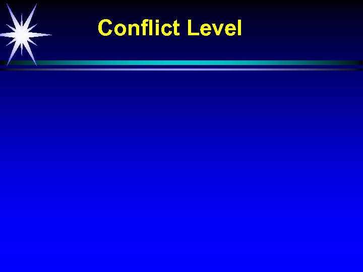 Conflict Level