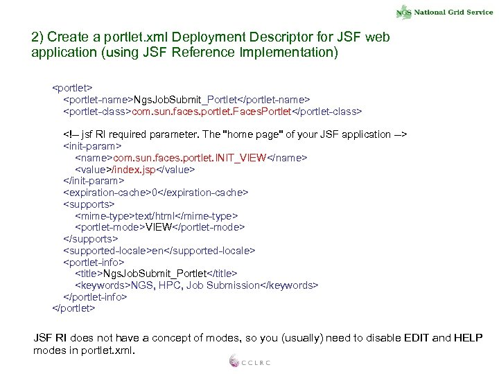 2) Create a portlet. xml Deployment Descriptor for JSF web application (using JSF Reference
