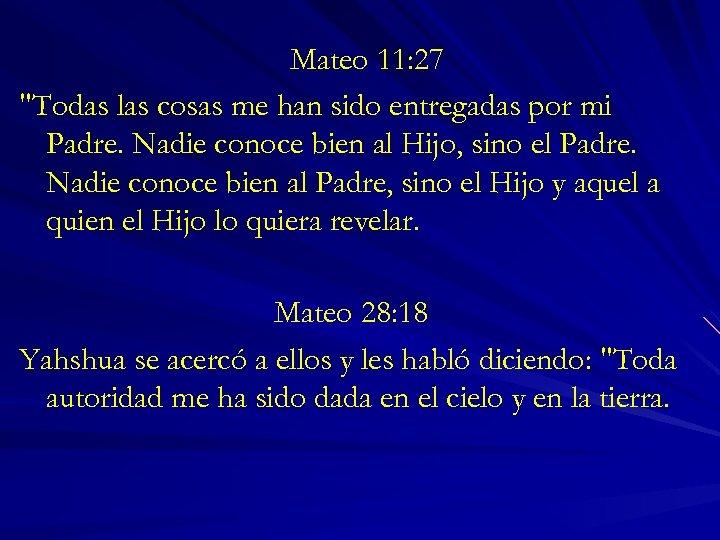 Mateo 11: 27
