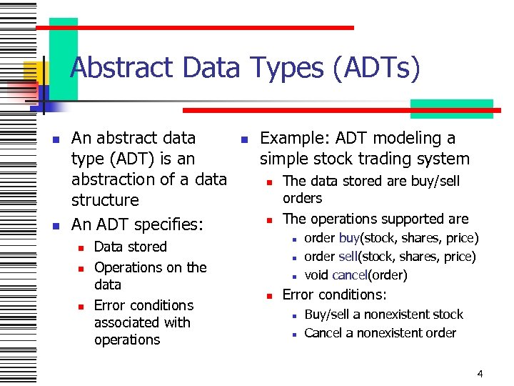 Examples Of Abstract Data Types In Data Structure