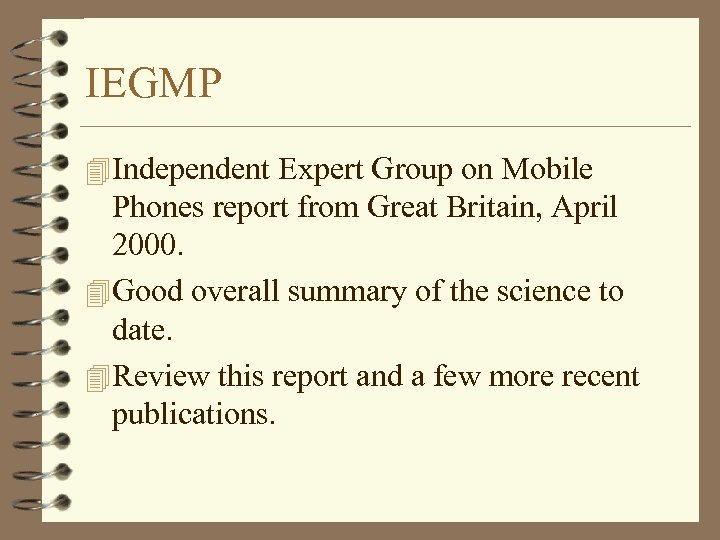 IEGMP 4 Independent Expert Group on Mobile Phones report from Great Britain, April 2000.