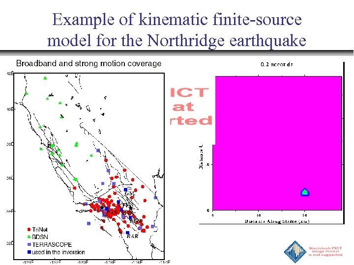 Example of kinematic finite-source model for the Northridge earthquake
