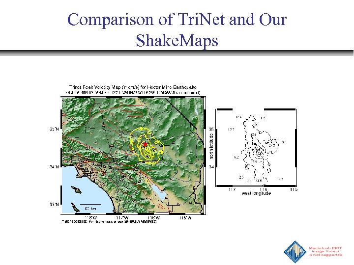 Comparison of Tri. Net and Our Shake. Maps
