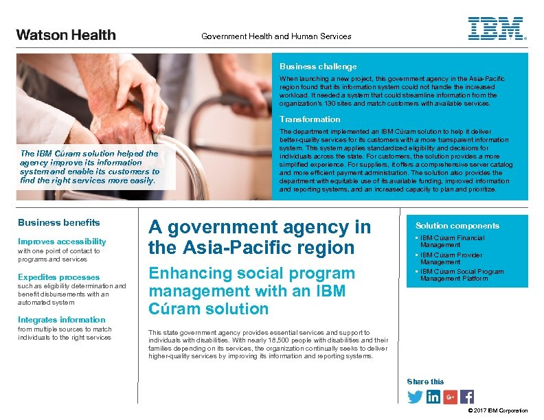 Government Health and Human Services Business challenge When launching a new project, this government