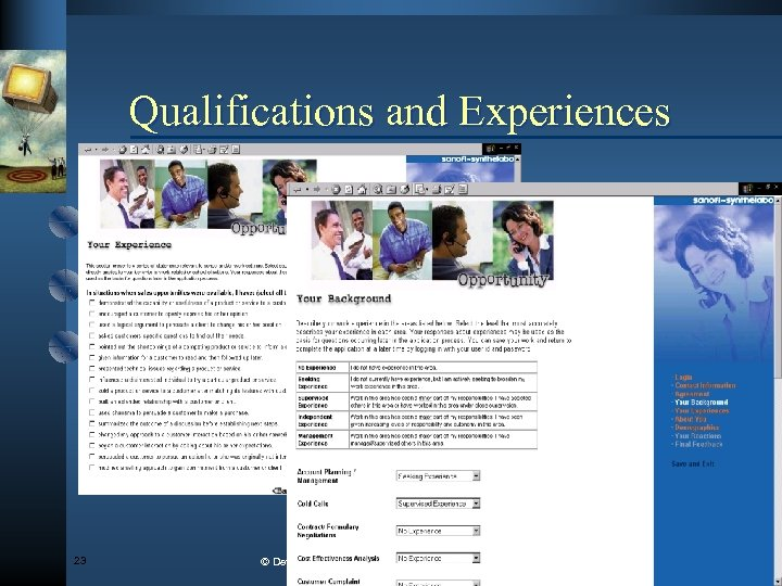 Qualifications and Experiences 23 © Development Dimensions Int'l, Inc. , MMIII. All rights reserved.