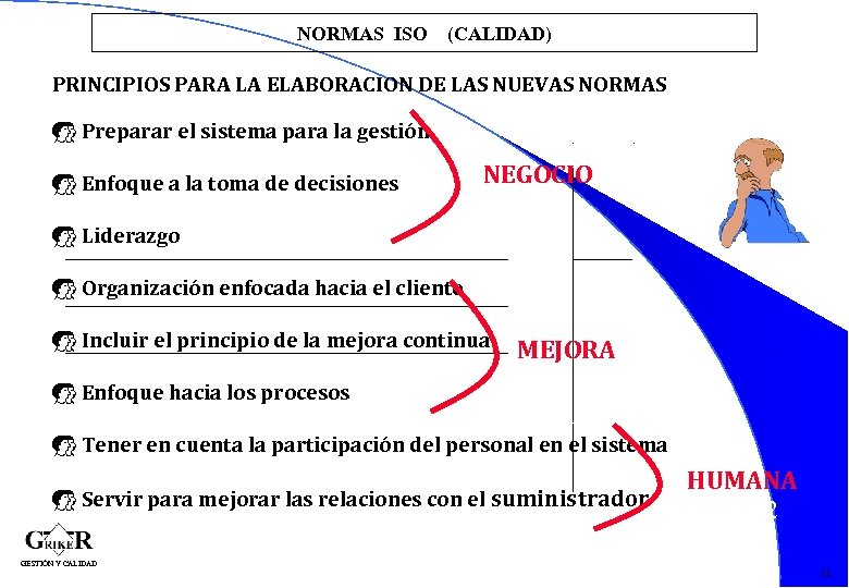 NORMAS ISO (CALIDAD) PRINCIPIOS PARA LA ELABORACION DE LAS NUEVAS NORMAS E Preparar el