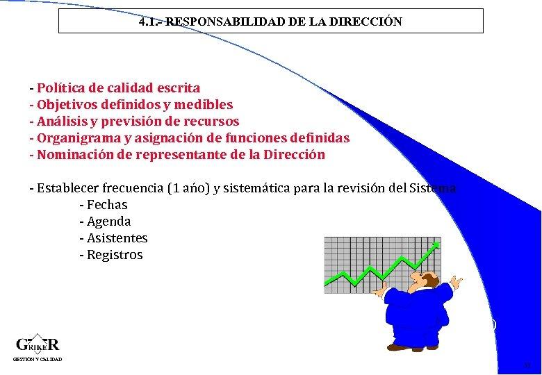 4. 1. - RESPONSABILIDAD DE LA DIRECCIÓN - Política de calidad escrita - Objetivos