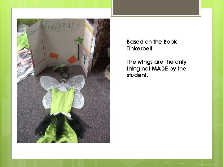 Based on the Book Tinkerbell The wings are the only thing not MADE by