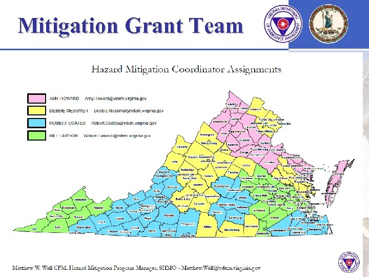 Mitigation Grant Team FOR OFFICIAL USE ONLY