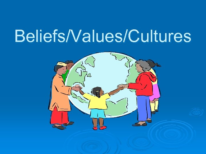 Beliefs/Values/Cultures