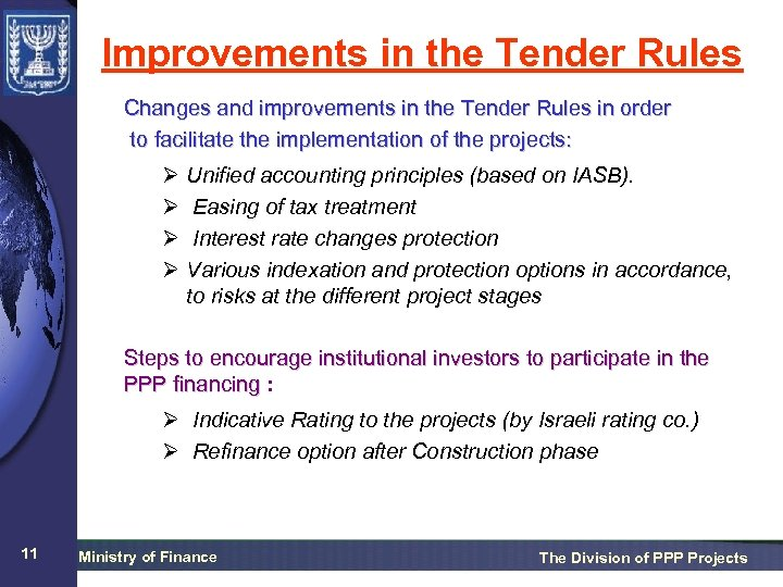 Improvements in the Tender Rules Changes and improvements in the Tender Rules in order