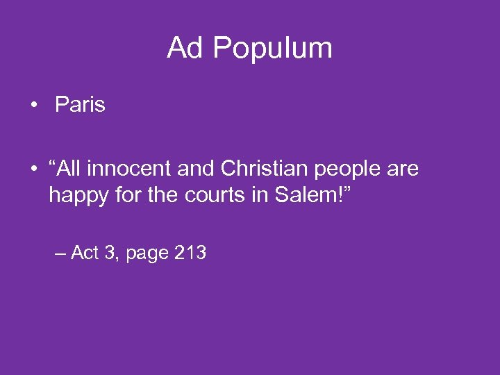 """Ad Populum • Paris • """"All innocent and Christian people are happy for the"""