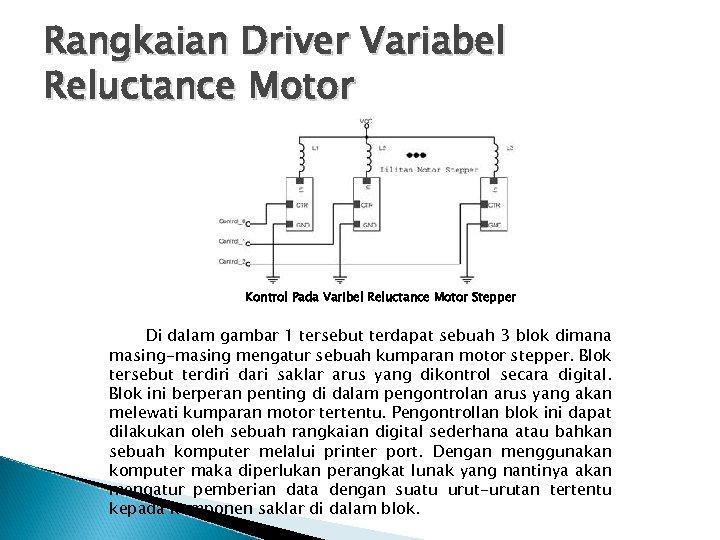Rangkaian Driver Variabel Reluctance Motor Kontrol Pada Varibel Reluctance Motor Stepper Di dalam gambar