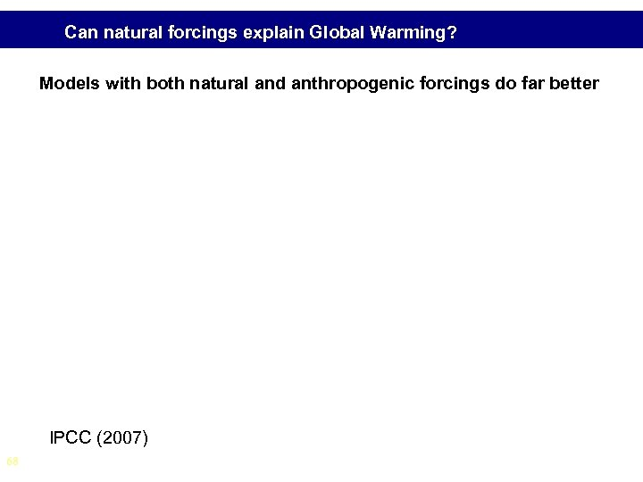 Can natural forcings explain Global Warming? Models with both natural and anthropogenic forcings do