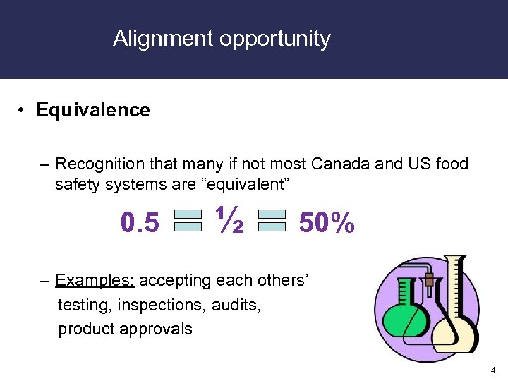 Alignment opportunity • Equivalence – Recognition that many if not most Canada and US