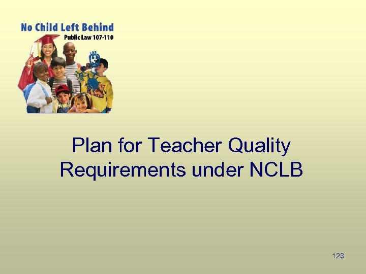 Plan for Teacher Quality Requirements under NCLB 123