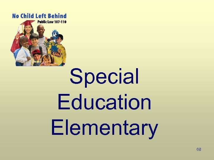 Special Education Elementary 68