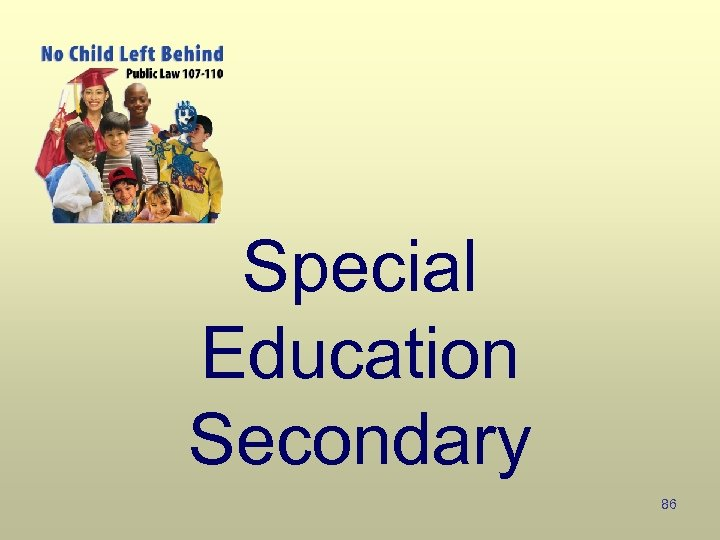 Special Education Secondary 86