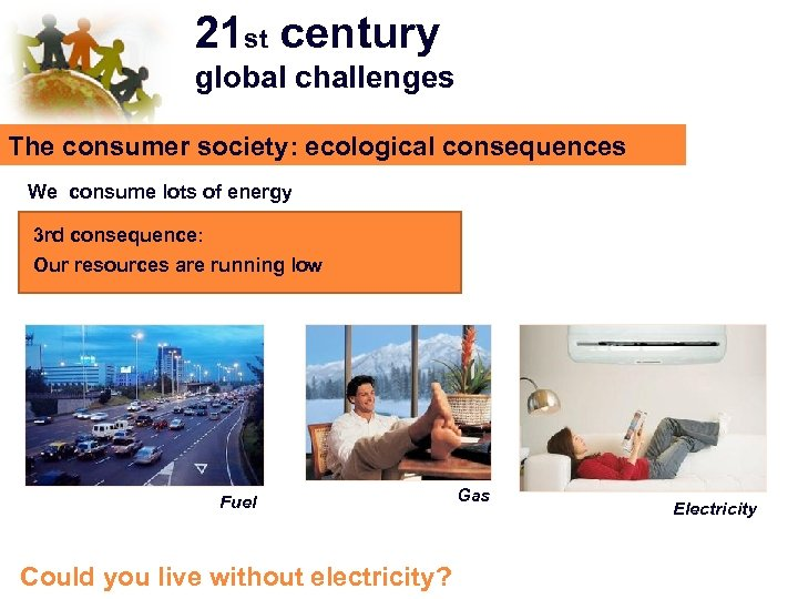 21 st century global challenges The consumer society: ecological consequences We consume lots of