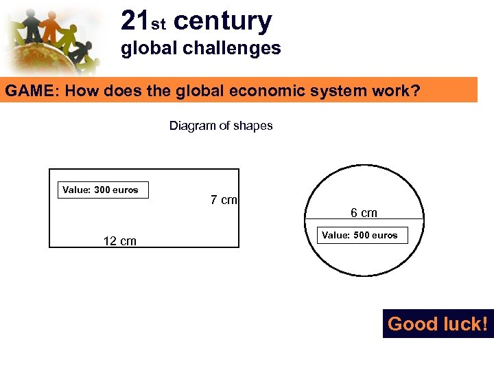 21 st century global challenges GAME: How does the global economic system work? Diagram