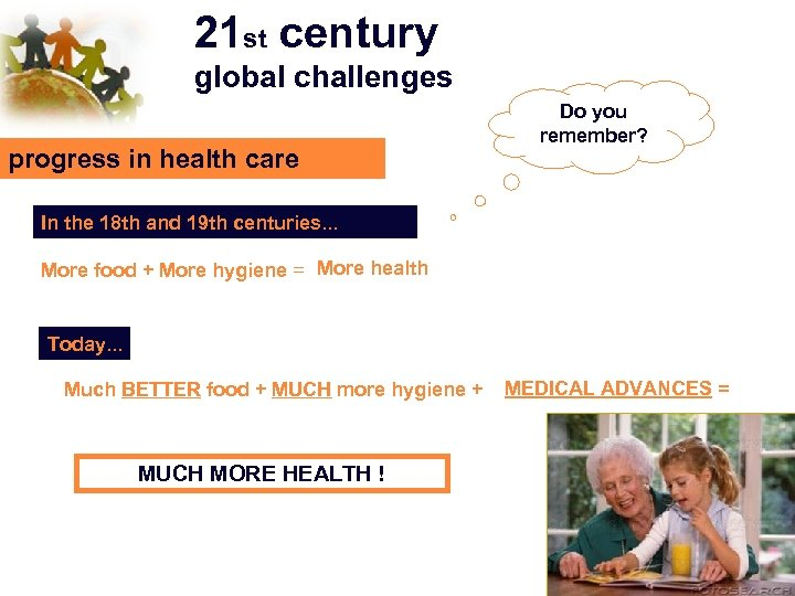 21 st century global challenges progress in health care Do you remember? In the