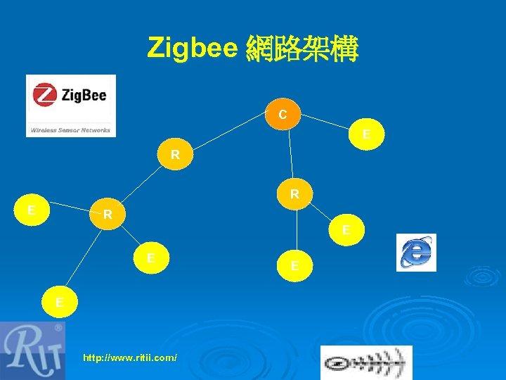 Zigbee 網路架構 C E R R E E E http: //www. ritii. com/ E