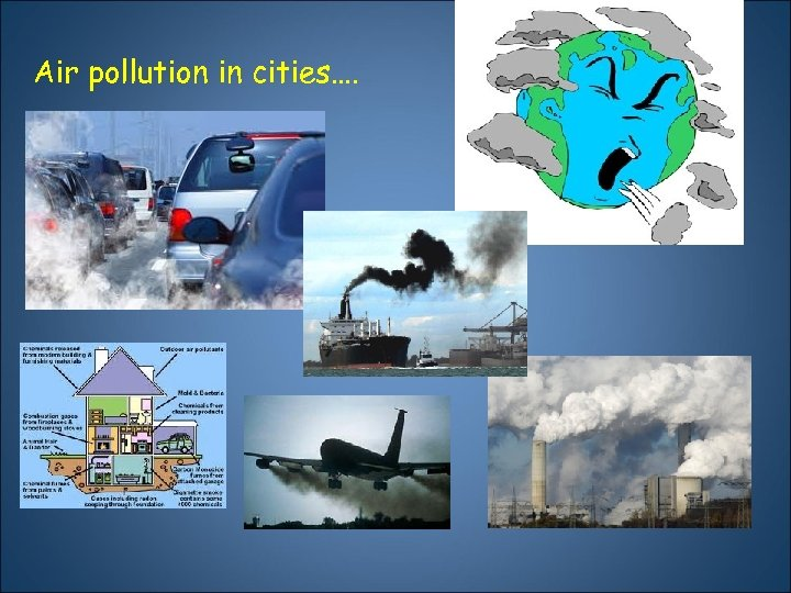 Air pollution in cities….