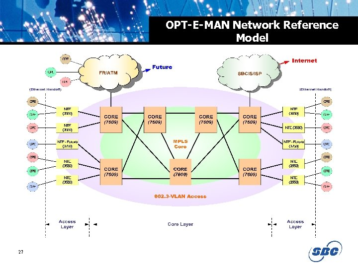 OPT-E-MAN Network Reference Model 27