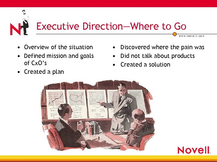 Executive Direction—Where to Go • Overview of the situation • Defined mission and goals