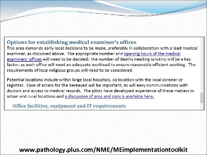 www. pathology. plus. com/NME/MEimplementationtoolkit