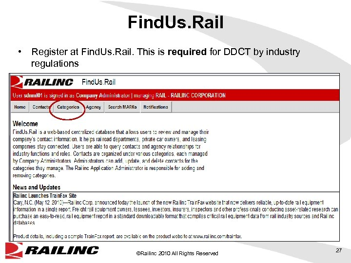 Find. Us. Rail • Register at Find. Us. Rail. This is required for DDCT