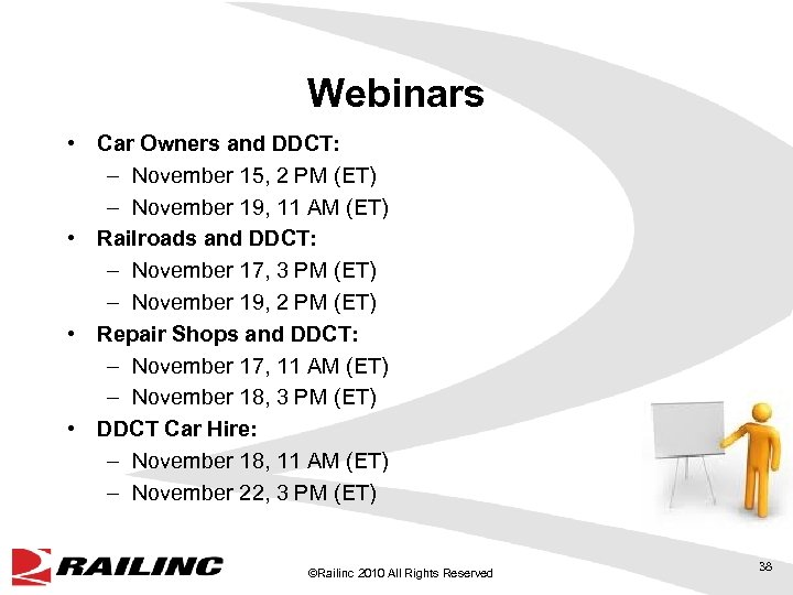 Webinars • Car Owners and DDCT: – November 15, 2 PM (ET) – November