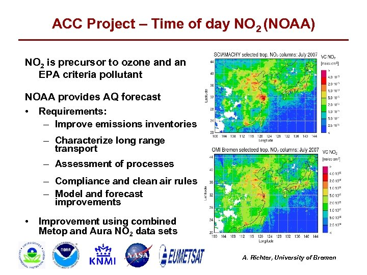 ACC Project – Time of day NO 2 (NOAA) NO 2 is precursor to