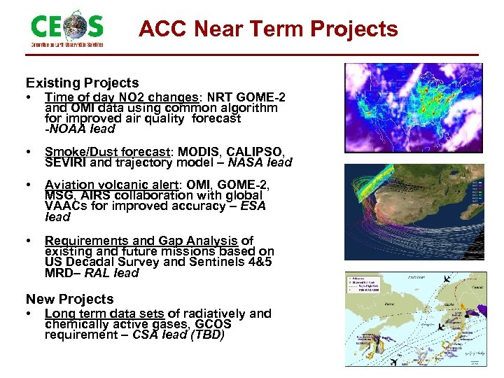 ACC Near Term Projects Existing Projects • Time of day NO 2 changes: NRT