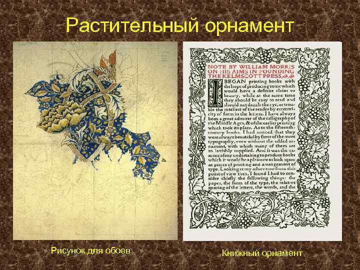 Растительный орнамент Рисунок для обоев Книжный орнамент