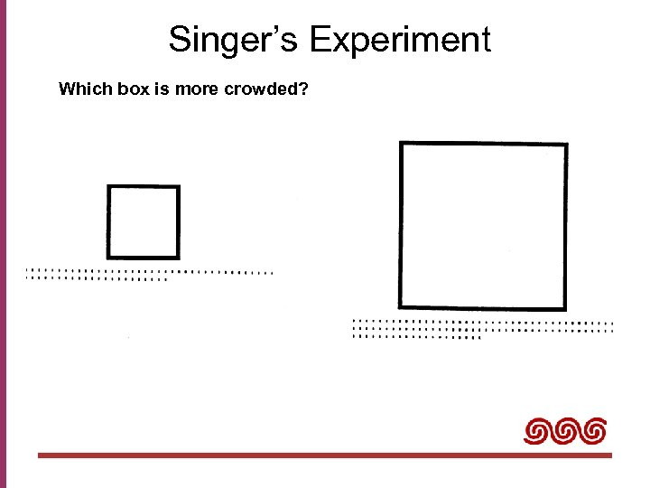 Singer's Experiment Which box is more crowded?