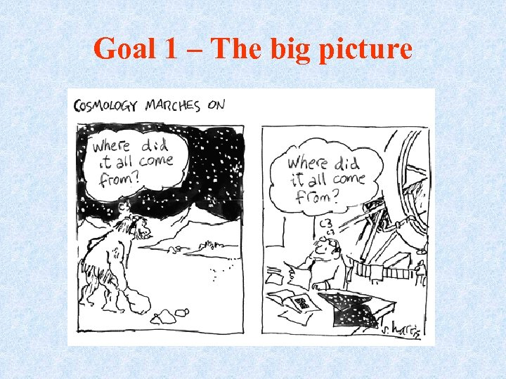 Goal 1 – The big picture