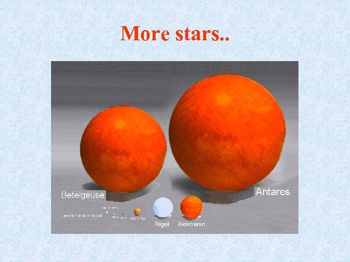 More stars. .