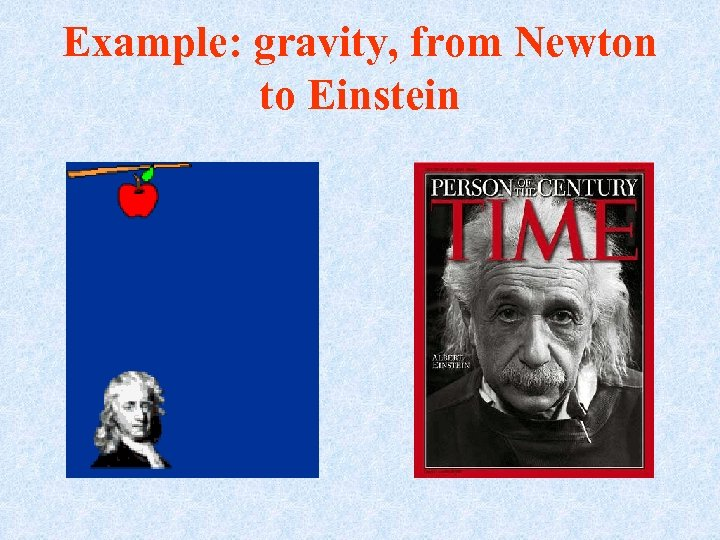 Example: gravity, from Newton to Einstein