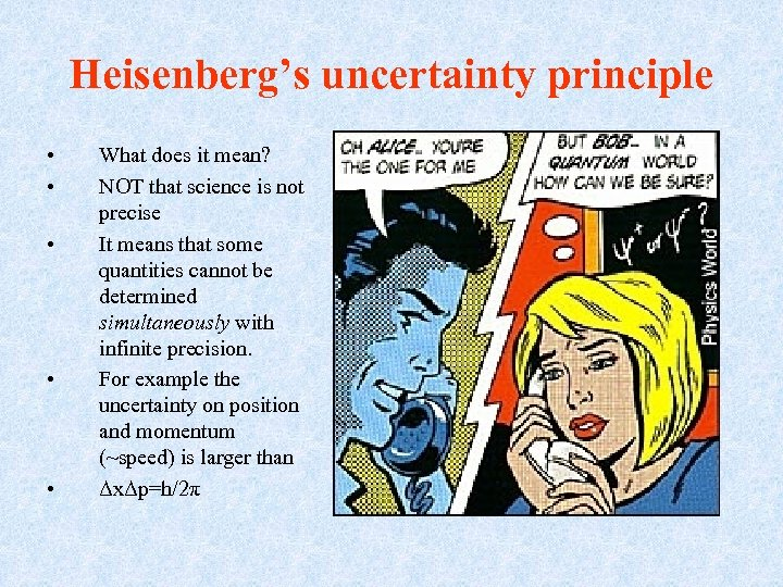 Heisenberg's uncertainty principle • • • What does it mean? NOT that science is