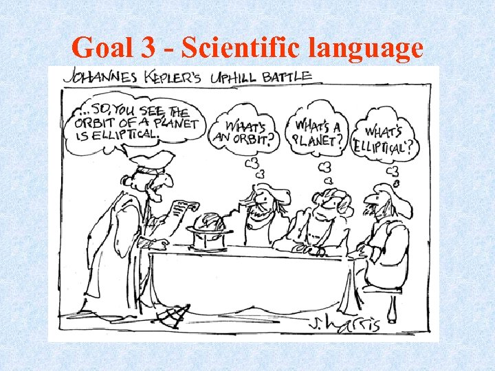 Goal 3 - Scientific language