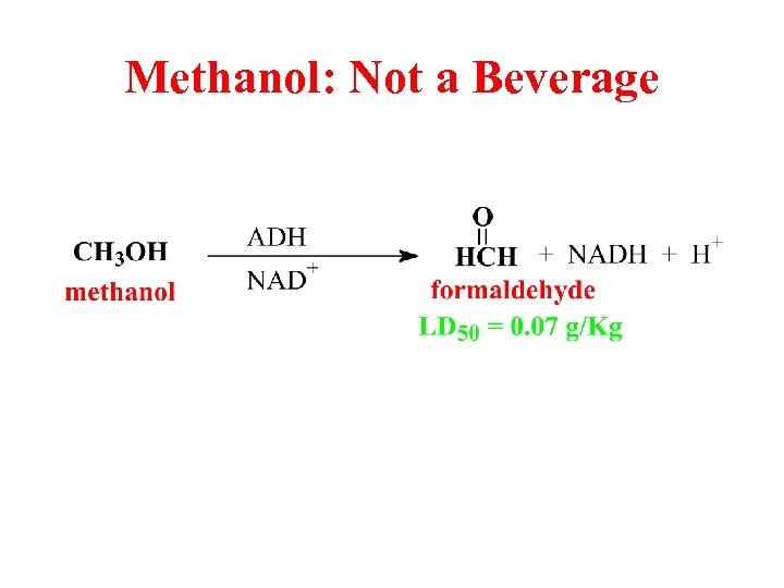 Methanol: Not a Beverage