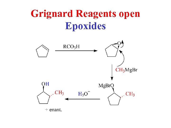 Grignard Reagents open Epoxides