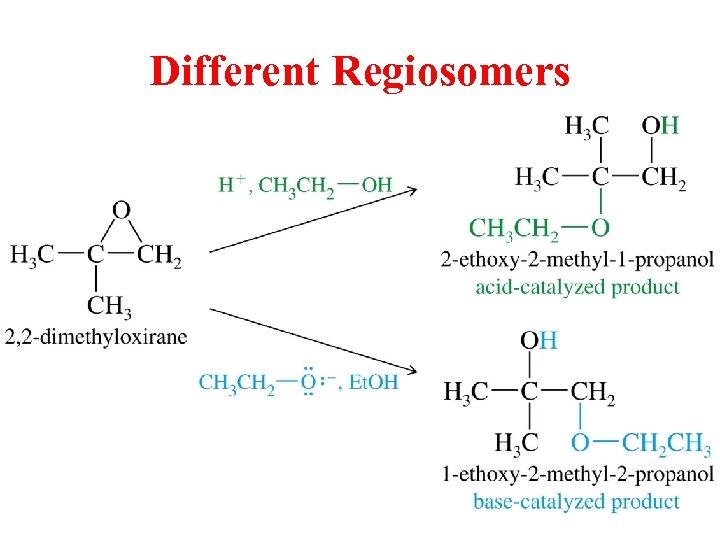 Different Regiosomers