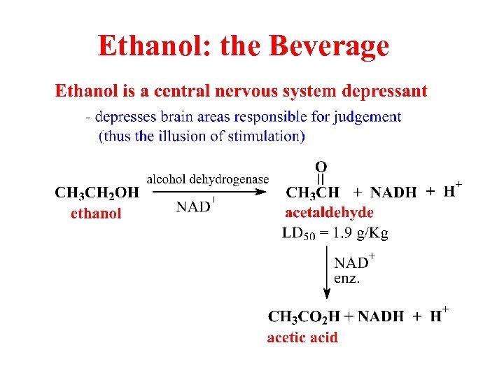 Ethanol: the Beverage