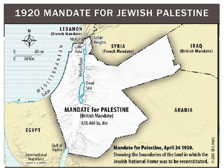 1920 MANDATE FOR JEWISH PALESTINE